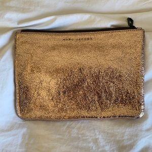 Marc Jacobs rose metallic clutch bag